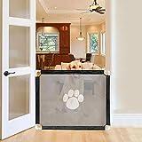 starte Magic Gate para Perros, Pet Gate, Magic Gate Portón De Malla Plegable Portátil Safe Guard Gasa Aislada Cerca para Mascotas Interior Y Exterior para Puertas Escalera, 39.37 31.50in
